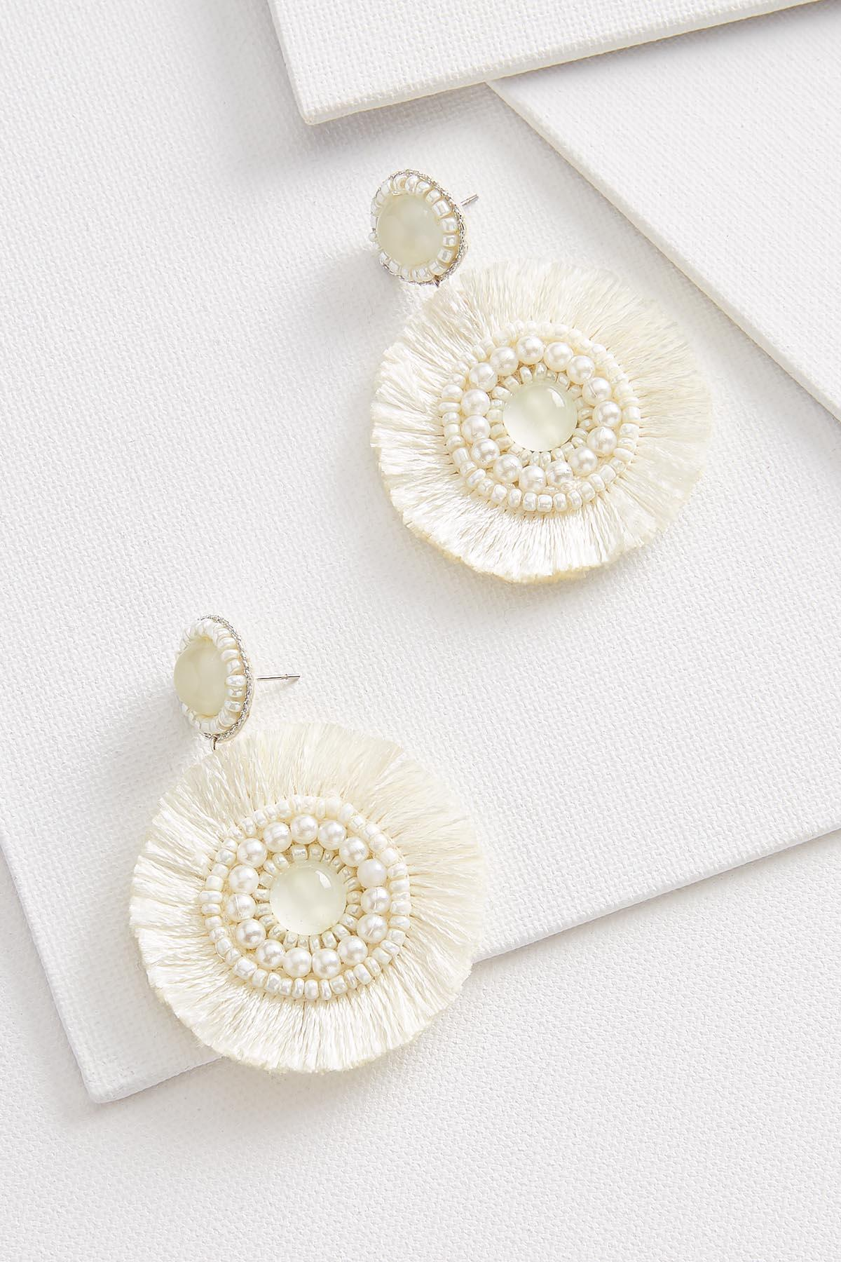 Pearl And Fringe Earrings