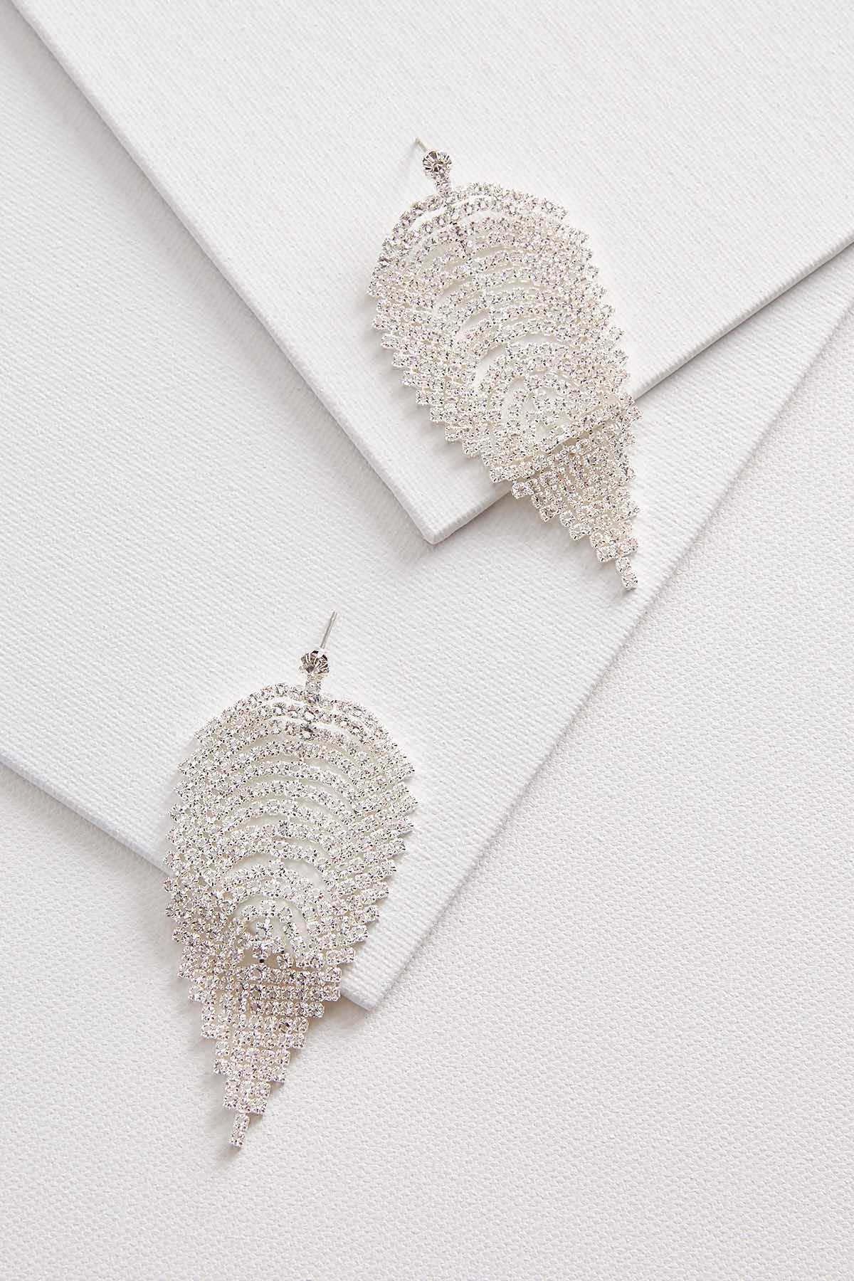 Rhinestone Petal Earrings