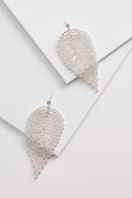 rhinestone petal earrings