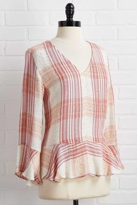 plaid to see spring top