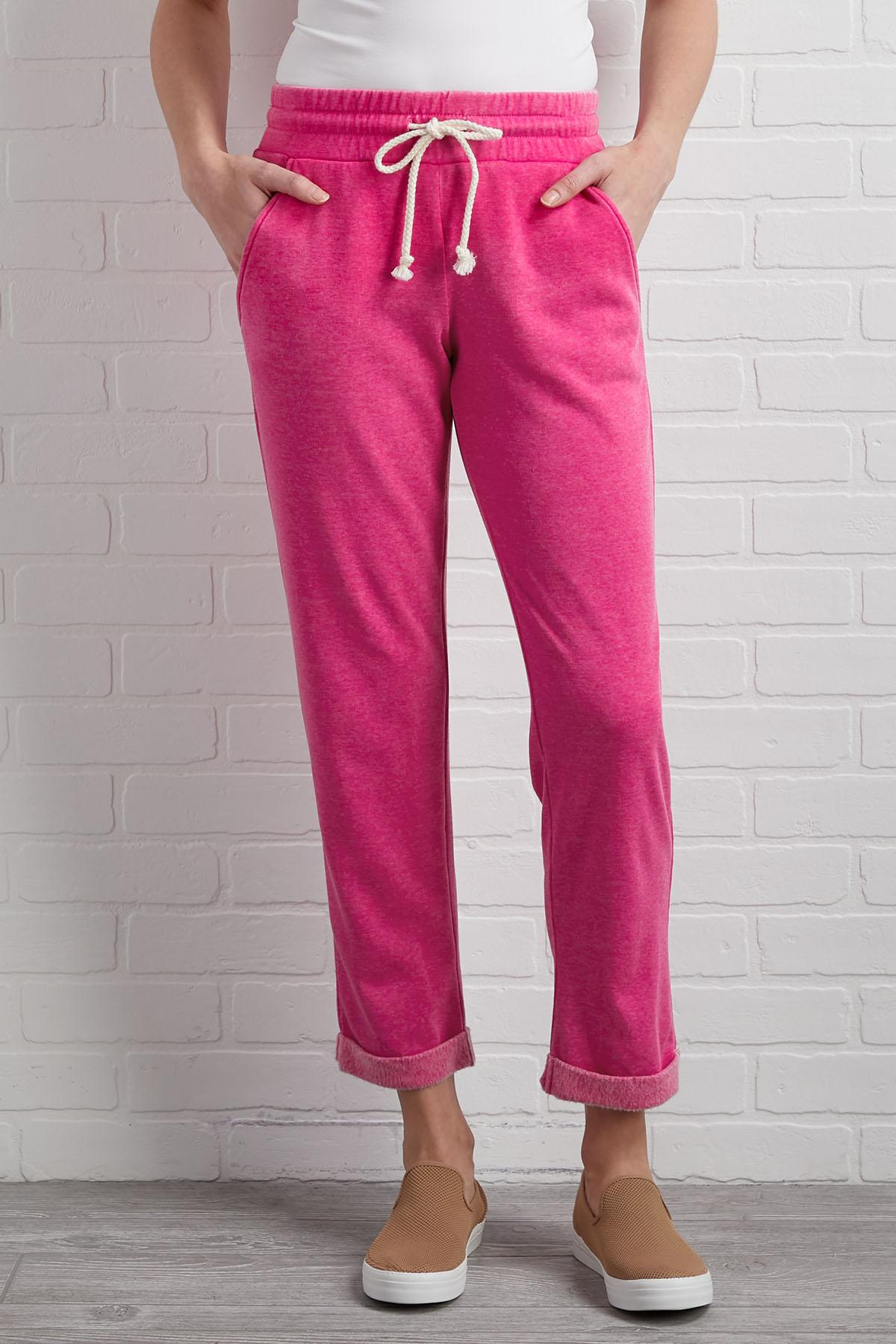 Pink I ` M Gonna Chill Pants