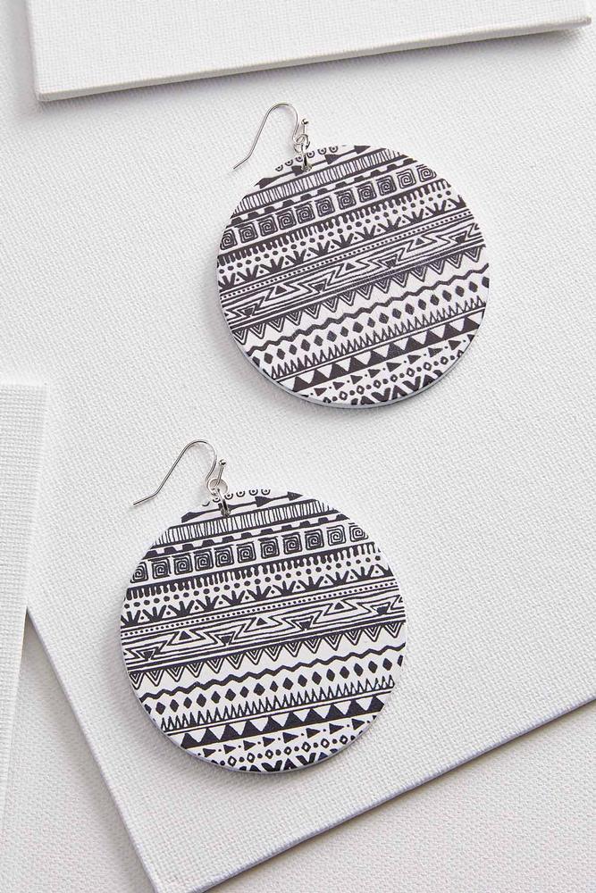 Printed Medallion Earrings