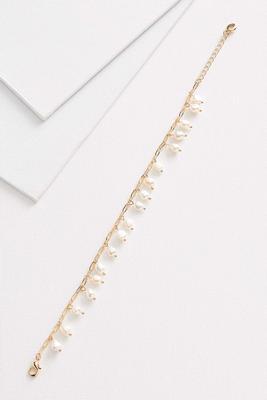shaky pearl ankle bracelet