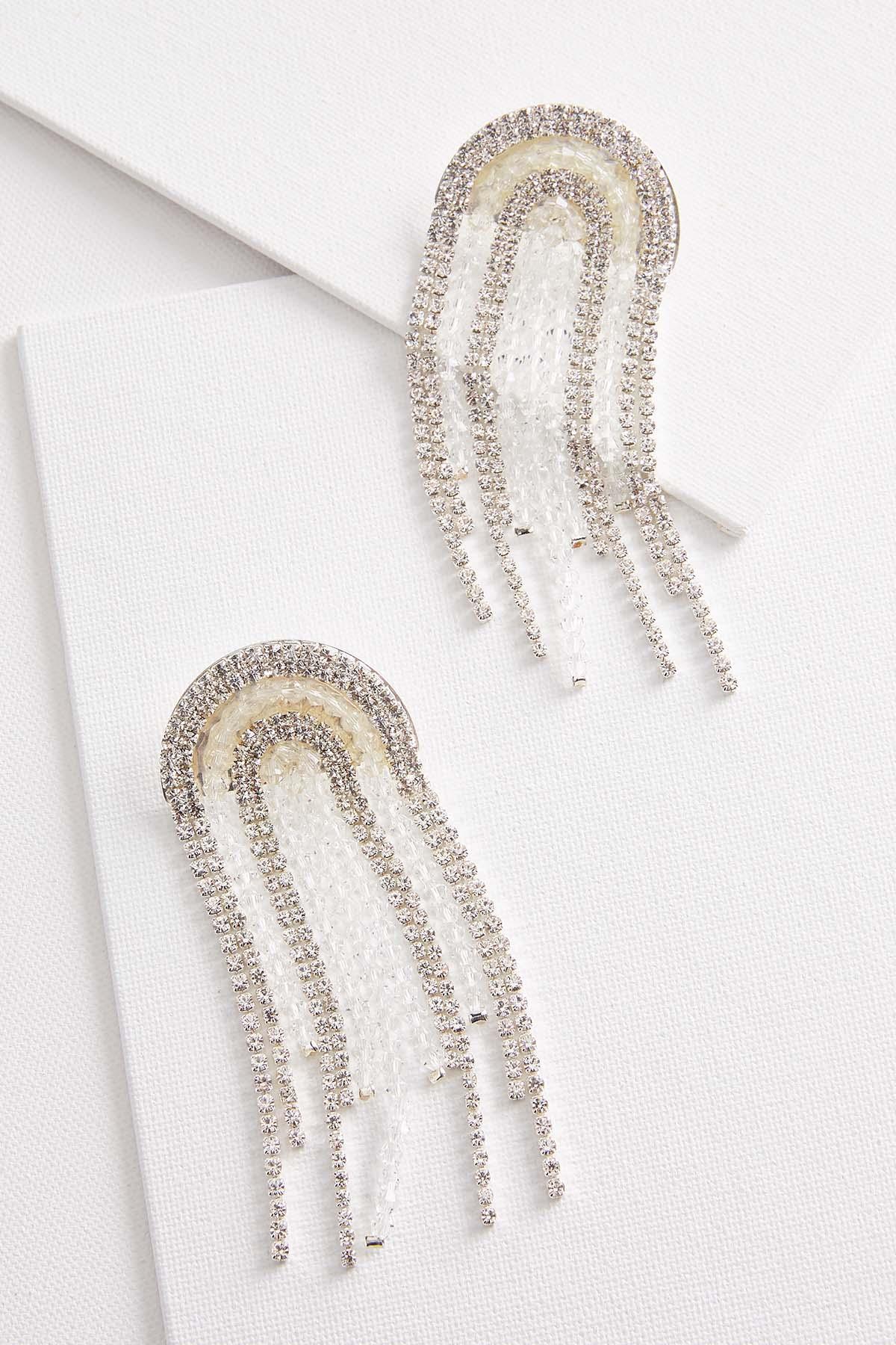 Rounded Fringe Earrings