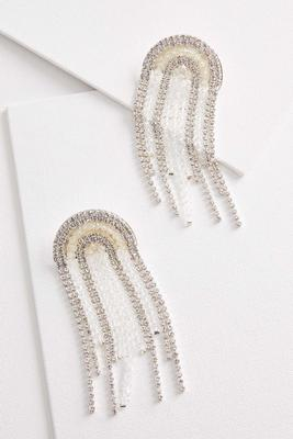 rounded fringe earrings