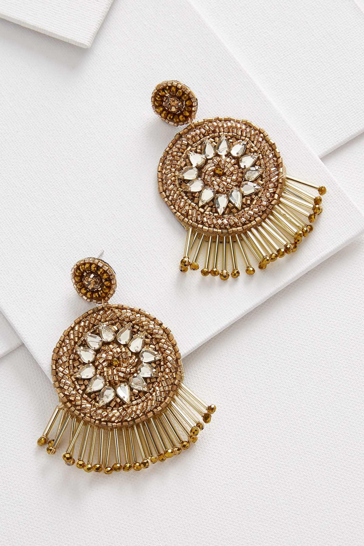 Beaded Medallion Earrings