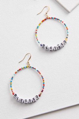 blessed bead earrings