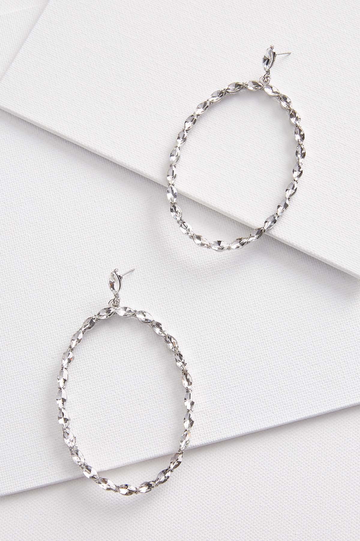 Glitzy Oval Earrings