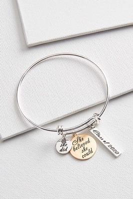 class of 2020 charm bracelet