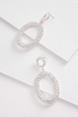 oval rhinestone earrings