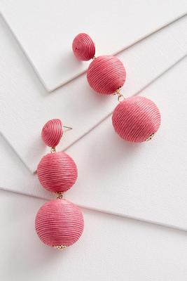 statement sphere earrings