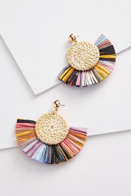 colorful raffia earrings