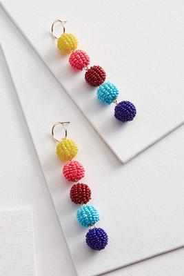 rainbow beaded statement earring