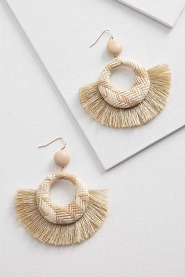 natural raffia earrings