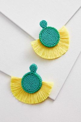 tropical fringe earrings