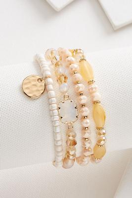 neutral bead bracelet set