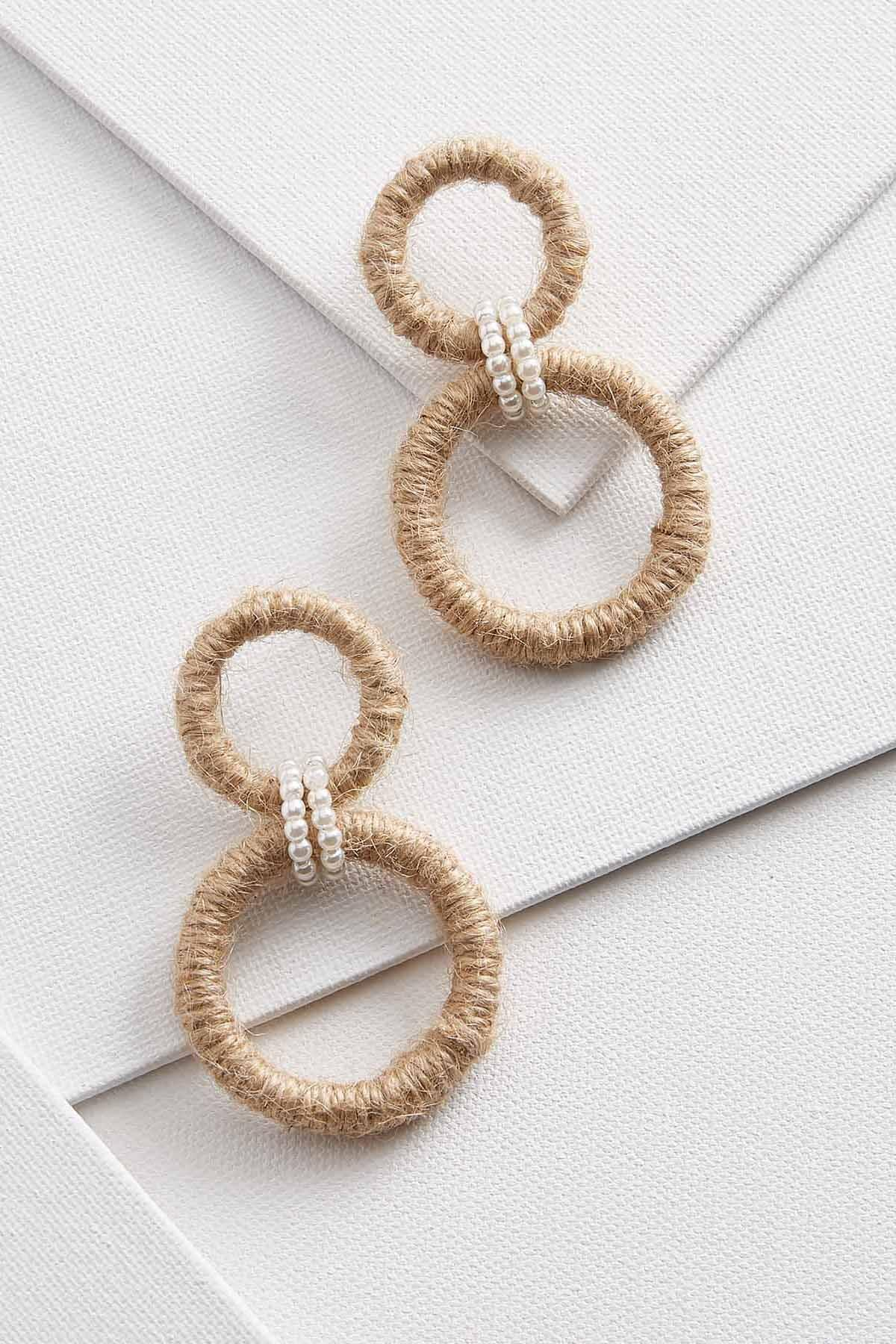 Twine And Pearl Earrings