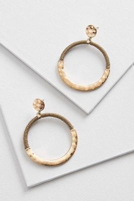 gold wrapped hoop earrings