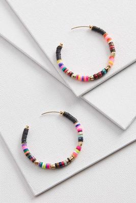 beaded statement hoop earrings