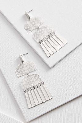 metal aztec earrings