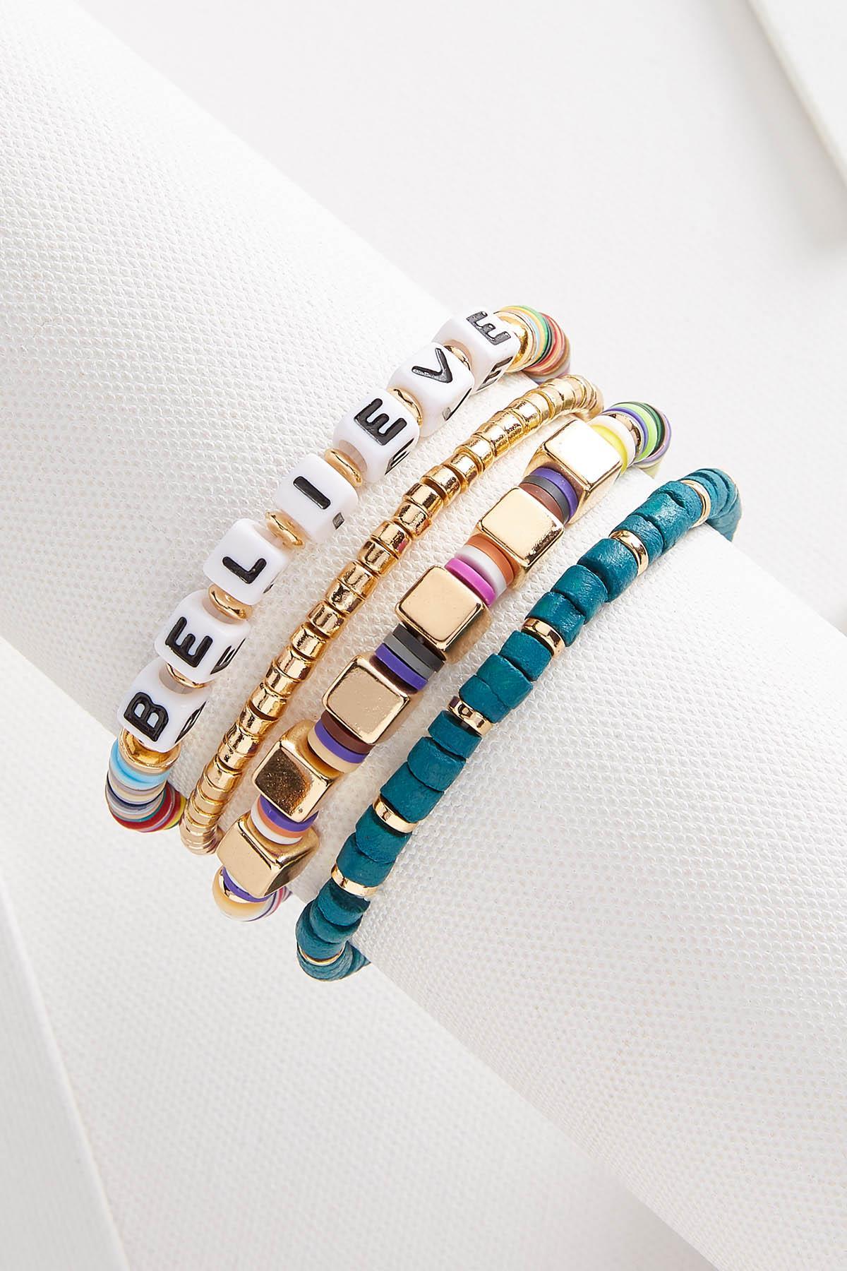 Believe Bracelet Set
