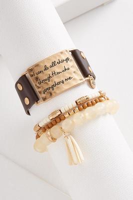 natural faith bracelet set
