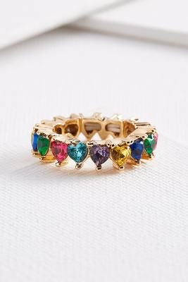 rainbow heart ring