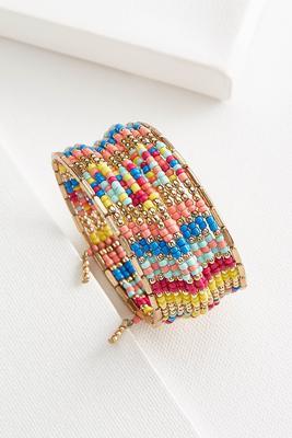 multi bead coil bracelet