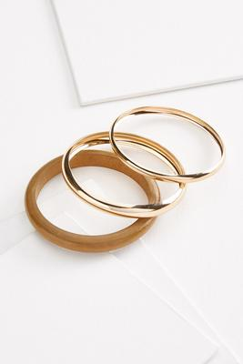 natural glam bangle set