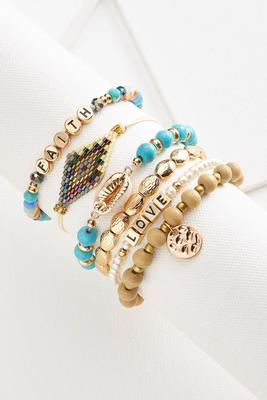 turquoise and gold bangle set