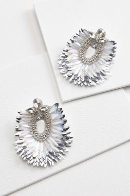 ruffled statement earrings