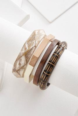 tribal wooden bangle set