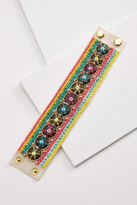 bright beaded snap bracelet