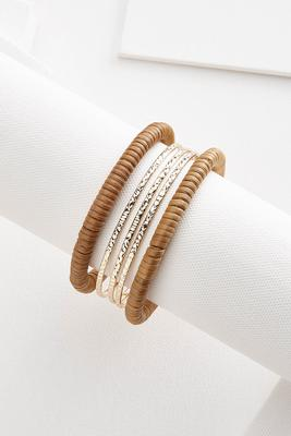 raffia bangle set