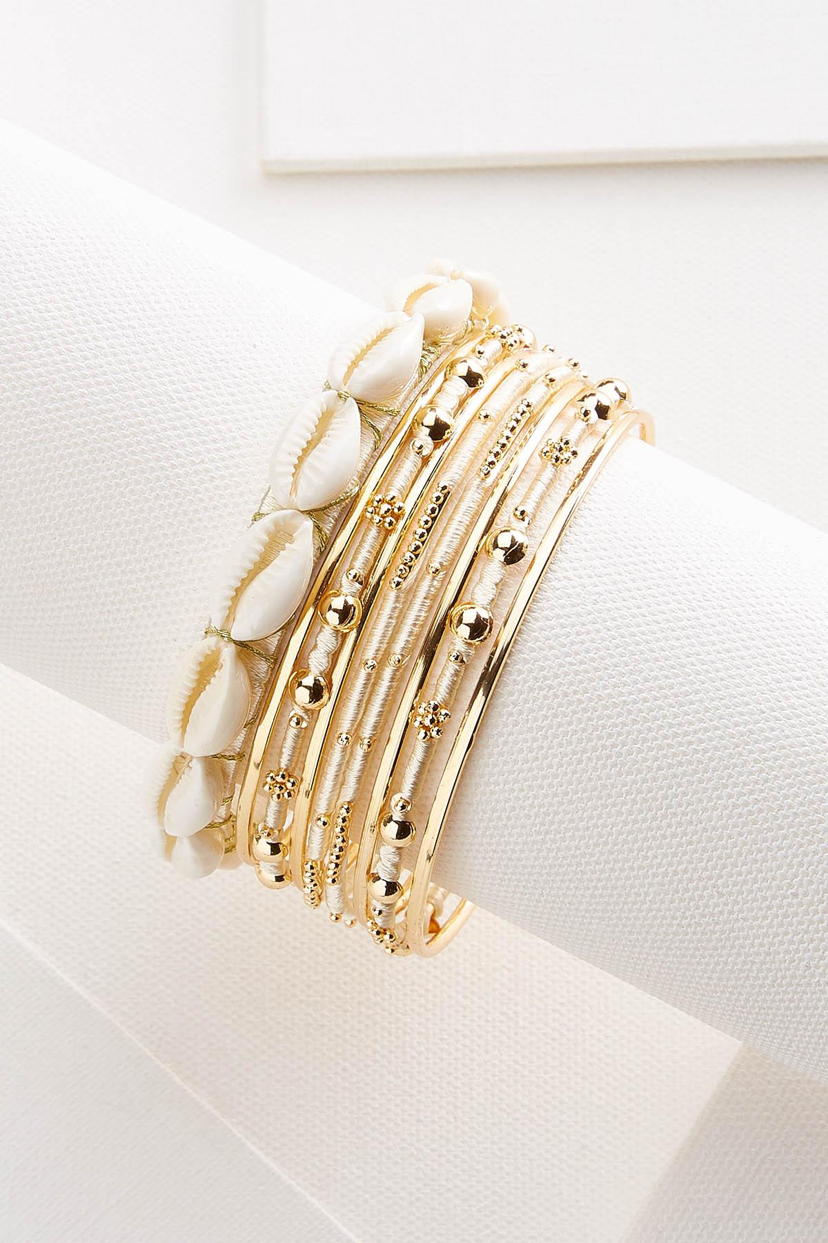 Shell Bangle Set