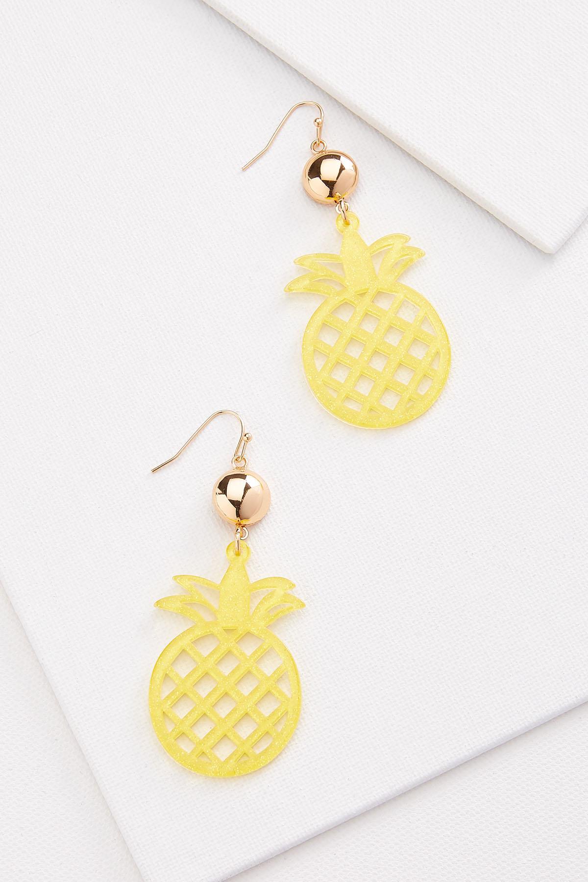 Sparkle Pineapple Earrings