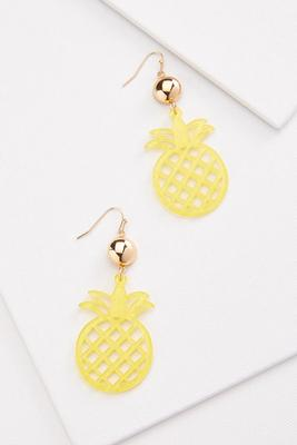 sparkle pineapple earrings