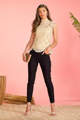 solid black bengaline pants