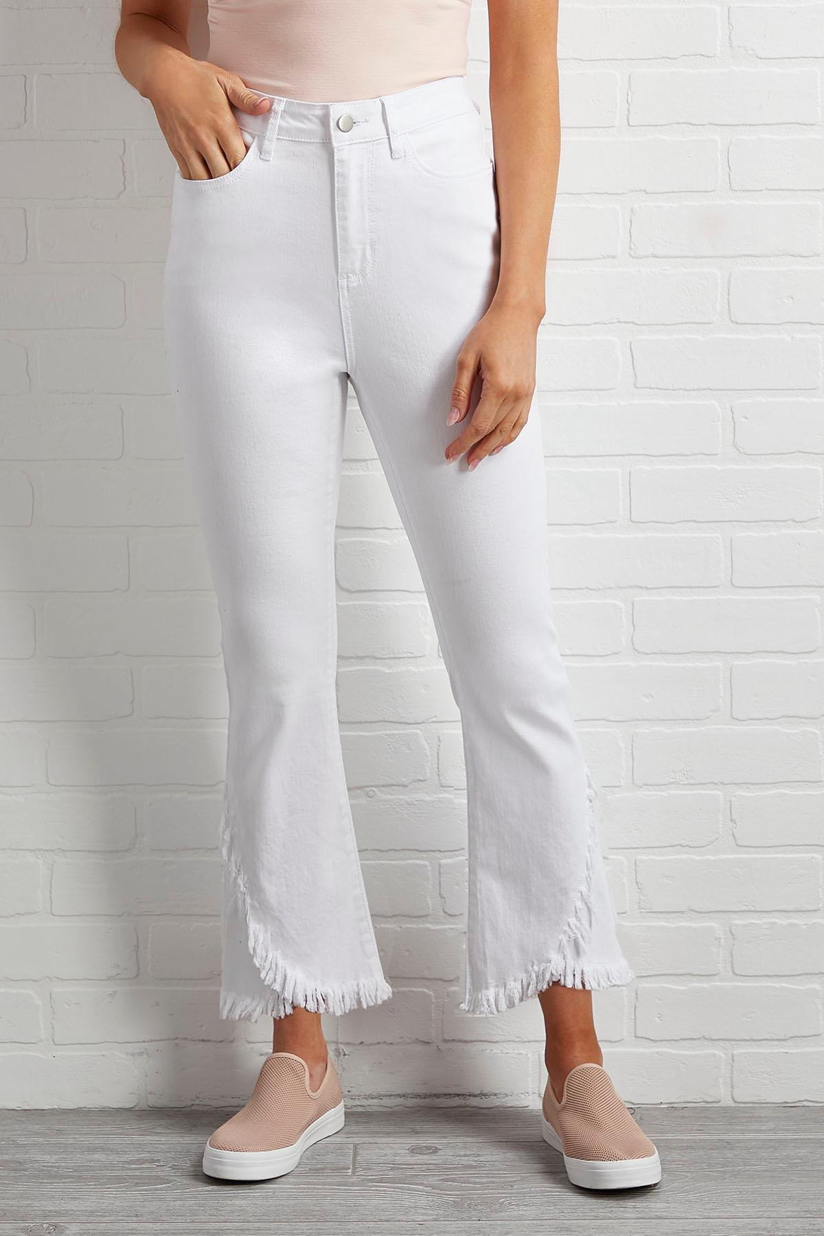 Whatever You Fray Hem Jeans