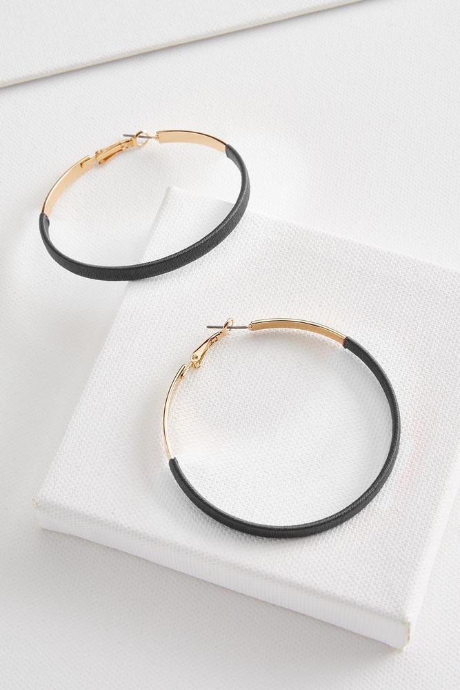 Threaded Hoop Earrings
