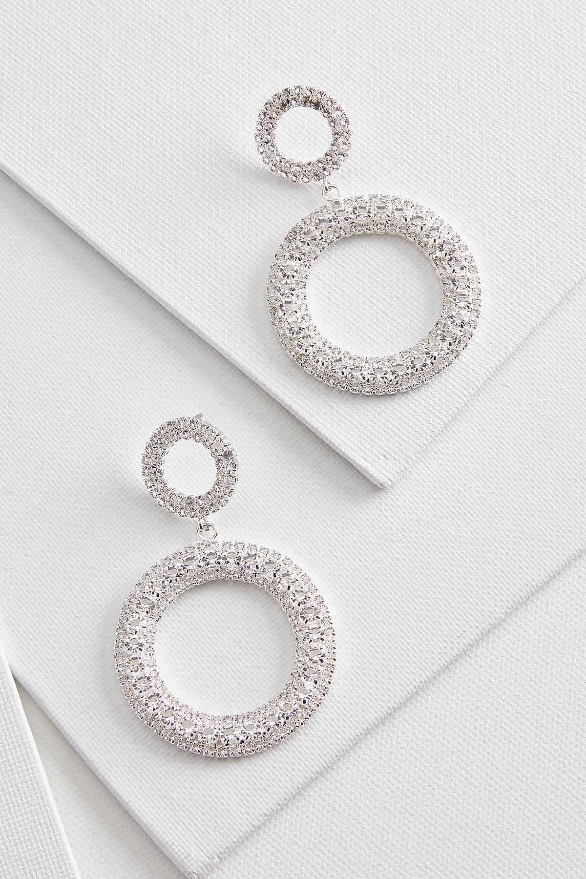 Blingy Circle Earrings