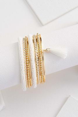 pretty pearl bracelet set