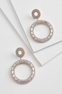 sparkle stone statement earrings