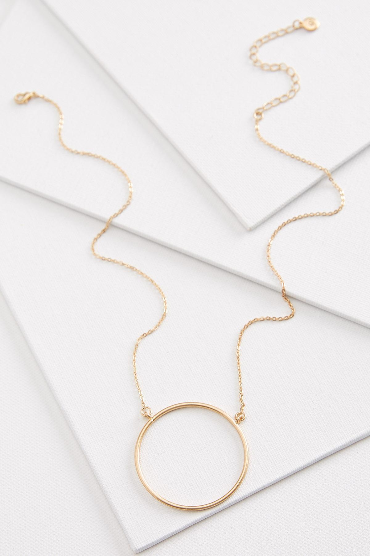 Oversized Hoop Necklace