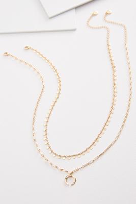 crescent charm necklace