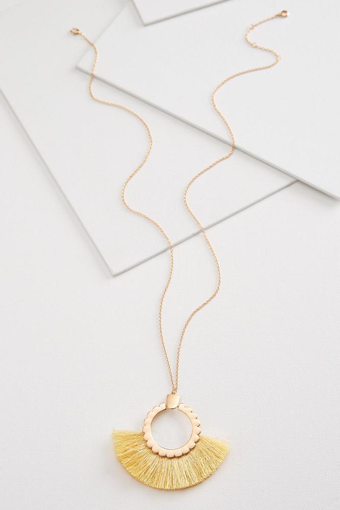 Scallop Fringe Necklace