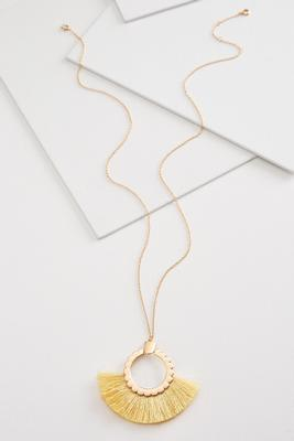scallop fringe necklace