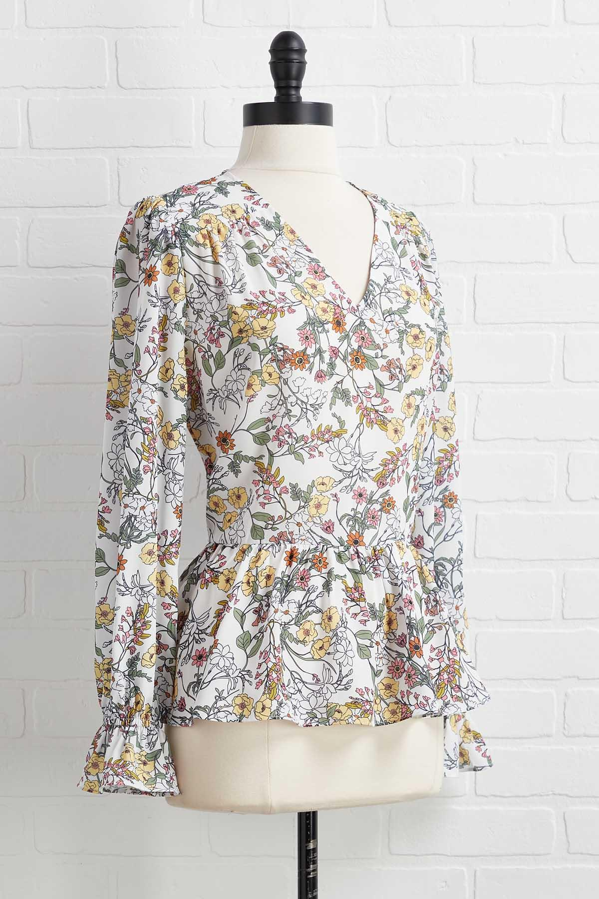 Pretty Flowers Top