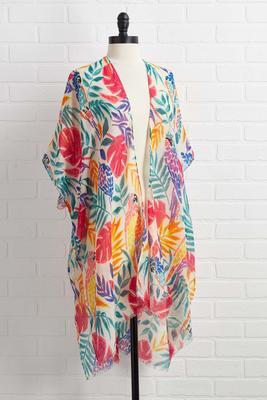 down in maui kimono