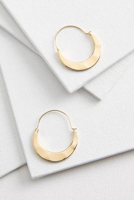 metal crescent hoop earrings